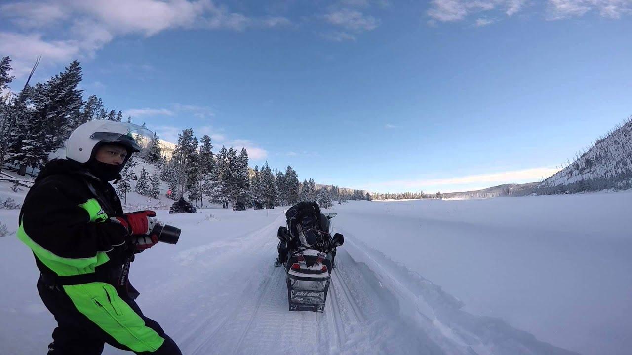 Snowmobile Tour To Old Faithful In Yellowstone National Park Gopro Hero 4 Youtube