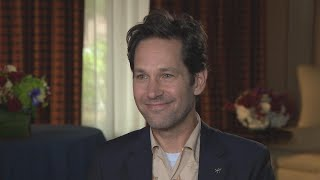 Et sits down with 'ant-man and the wasp' star paul rudd to talk stepping back in suit teaming up evangeline lilly, michael douglas michelle ...
