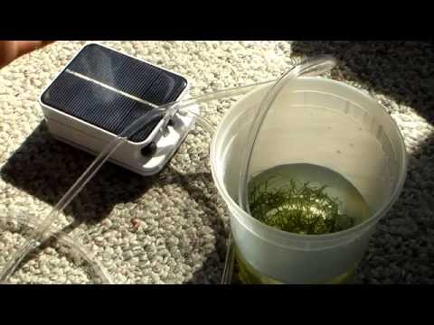 Mini Solar Power Air Pump