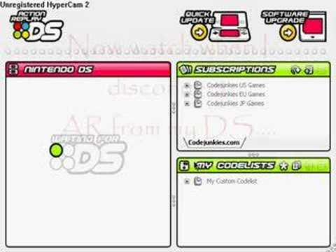 how to work action replay ds