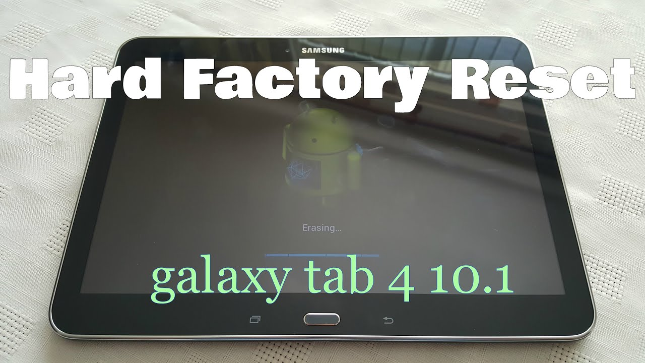 samsung tab s4 factory reset