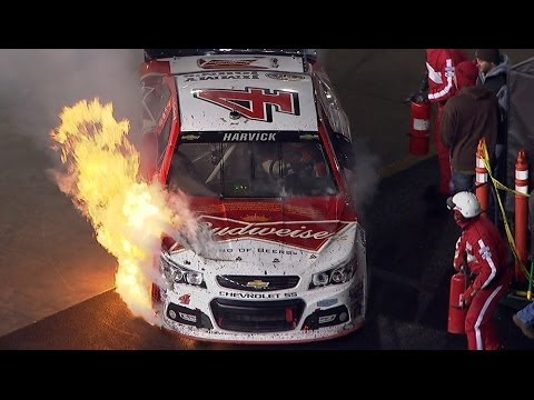 NASCAR | Bristol | Harvick's day goes up in flames
