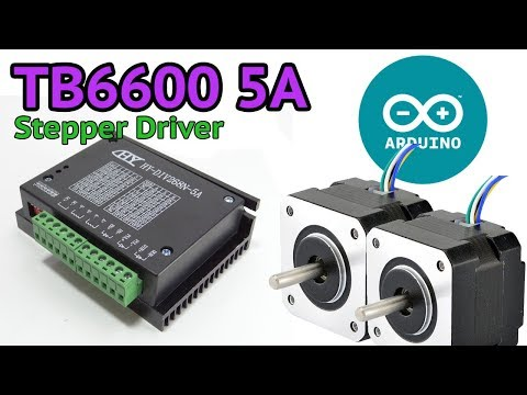 TB6600 5A Stepper motor driver and Arduino - YouTube