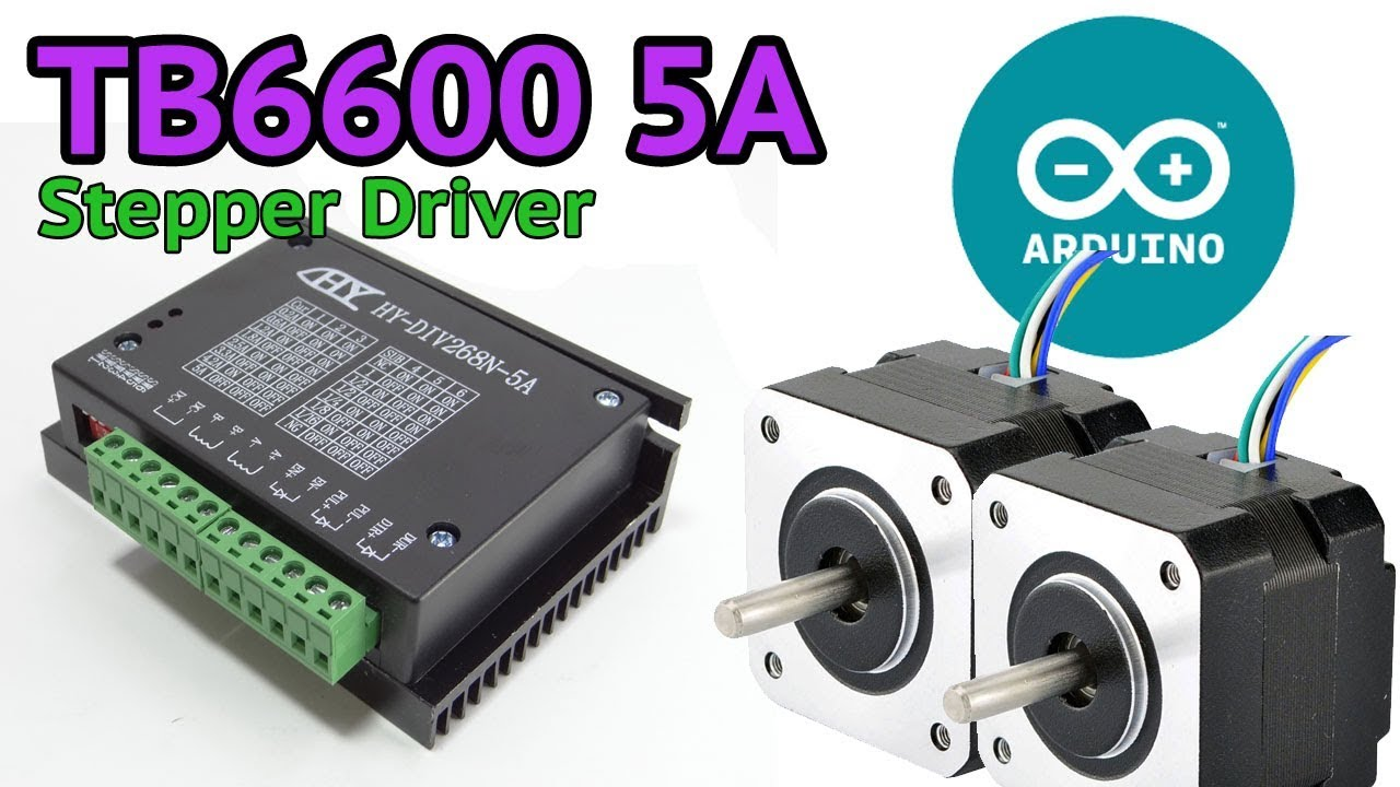 Tb6600 5a Stepper Motor Driver And Arduino Youtube