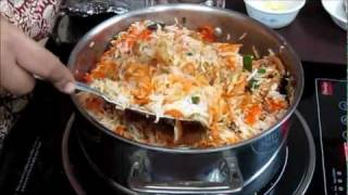 Chicken Biryani Recipe in Hindi with Captions in English