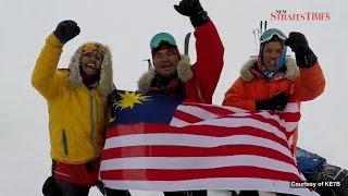 Malaysian North Pole explorers return
