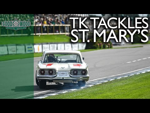 Tom Kristensen's mighty Thunderbird carves through the pack