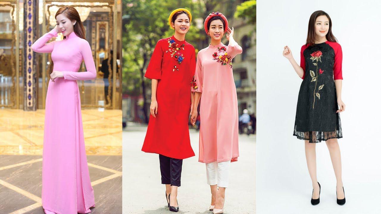 Mẫu áo dài Cách Tân và Truyền Thống 2019 không thể bỏ qua