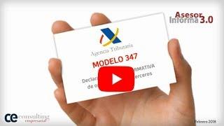 Modelo 347 ¡Que no se te olvide! | Asesor Informa 3.0 Febrero 2018