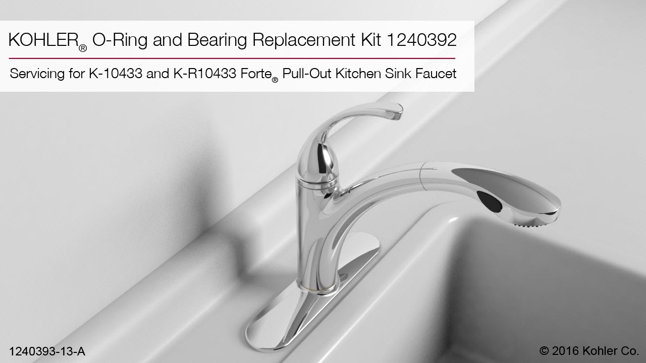 kohler forte kitchen faucet manual kohler forte pullout kitchen sink faucet oring and bearing replacement