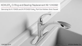 kohler forte pull out kitchen sink faucet o ring and bearing replacement