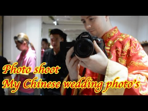 Shenzhen Wedding Photo Shoot. Foreigner aka laowai in traditional chinese and western clothes.