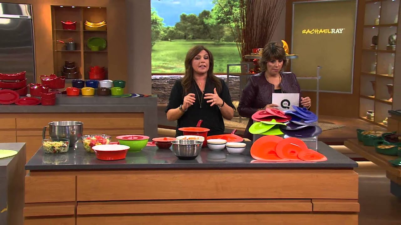 Rachael Ray Set of 3 Silicone Suction Lids with Jill Bauer - YouTube
