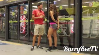 KISSING GIRLS in BRASIL SUBWAY! Social Experiment!