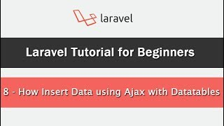 Learn about Ajax crud in Laravel - Tutorials