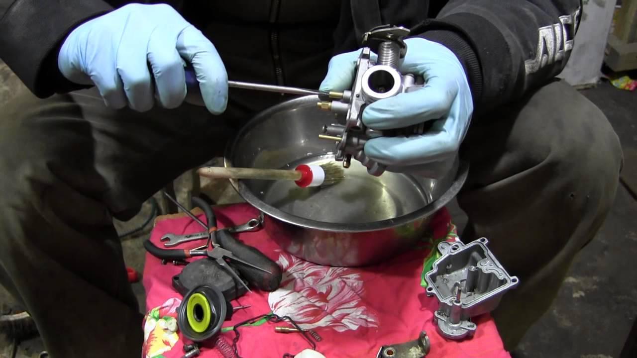 СВОИМИ РУКАМИ: Чистка карбюратора китайского скутера 4Т 80сс - YouTube