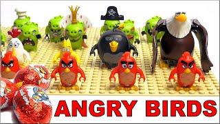 LEGO Angry Birds все минифигурки по мультику обзор коллекции