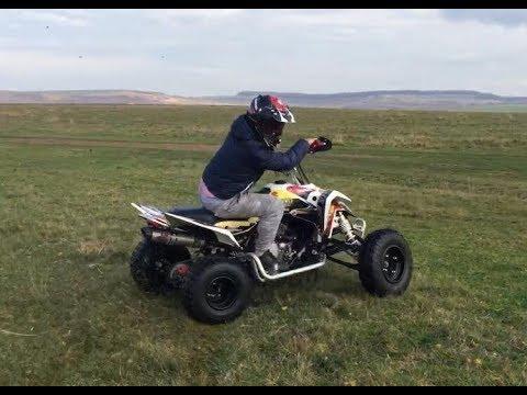 e300834ea44 Suzuki LTR 450 First Ride New Quad 450r Quad Rider - YouTube