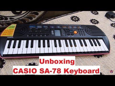 Casio SA-78 44-keys Electronic Mini keyboard/Piano Unboxing