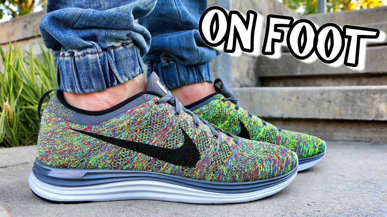 55a8f29a74b Nike Flyknit Lunar 1 Multicolor - Review + On Foot - YouTube
