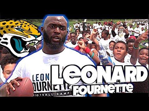 Cheap Leonard Fournette , Jacksonville Jaguars Youth Football Camp in New