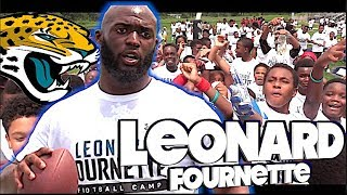 Leonard Fournette , Jacksonville Jaguars Youth Football Camp in New Orleans 2018
