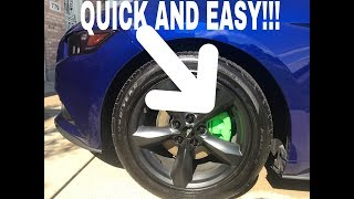 Quickest and Easiest Way To Paint Brake Calipers (Green Calipers On Blue Car)