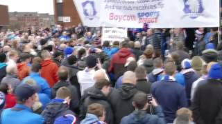 Rangers fans protest against Mike Ashley and Sports Direct, November 7, 2015
