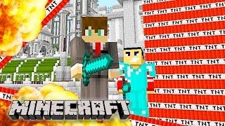 Minecraft - EPIC MEGA TNT EXPLOSIONS!!! Minecraft TNT Explosion! (Funny Minecraft Gameplay)