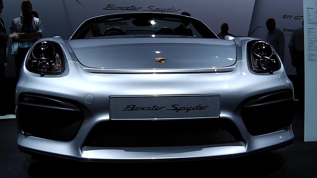 porsche boxster spyder 981 porsche annual general meeting 2015 stuttgart - 2015 Porsche Cayman Silver