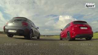 Drag Race : Mercedes A 45 AMG VS BMW M135i xDrive (Motorsport)