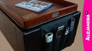 How To Organize Your Coffee Table Or Storage Ottoman