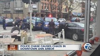 Police chase causes chaos in downtown Ann Arbor