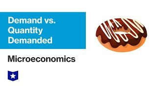 Demand vs. Quantity Demanded | Microeconomics