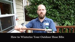 How To Winterize Outdoor Faucet or Hose Bib - Frost Free/Regular - Seattle Plumbing (206) 633-1700