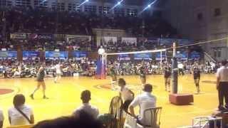141028 unigames volleyball finals w dlsu nu set 2 5