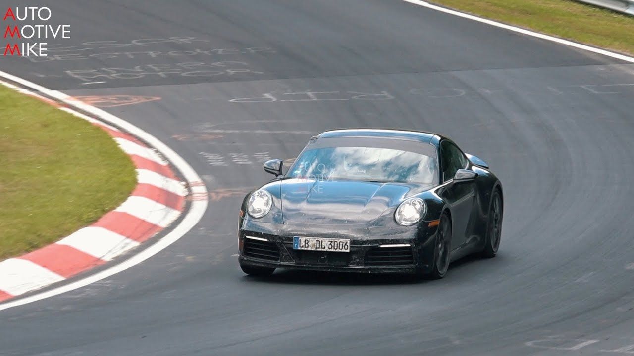 2019 Porsche Carrera 4s Spied Testing At The Nürburgring