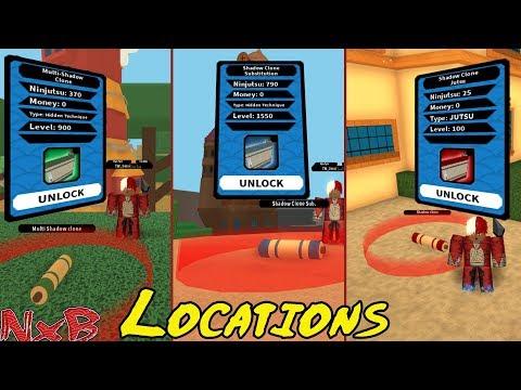 NRPG Beyond 3 Shadow Clone Jutsu's Showcase + Locations