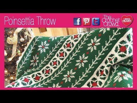 Crochet Poinsettia Throw
