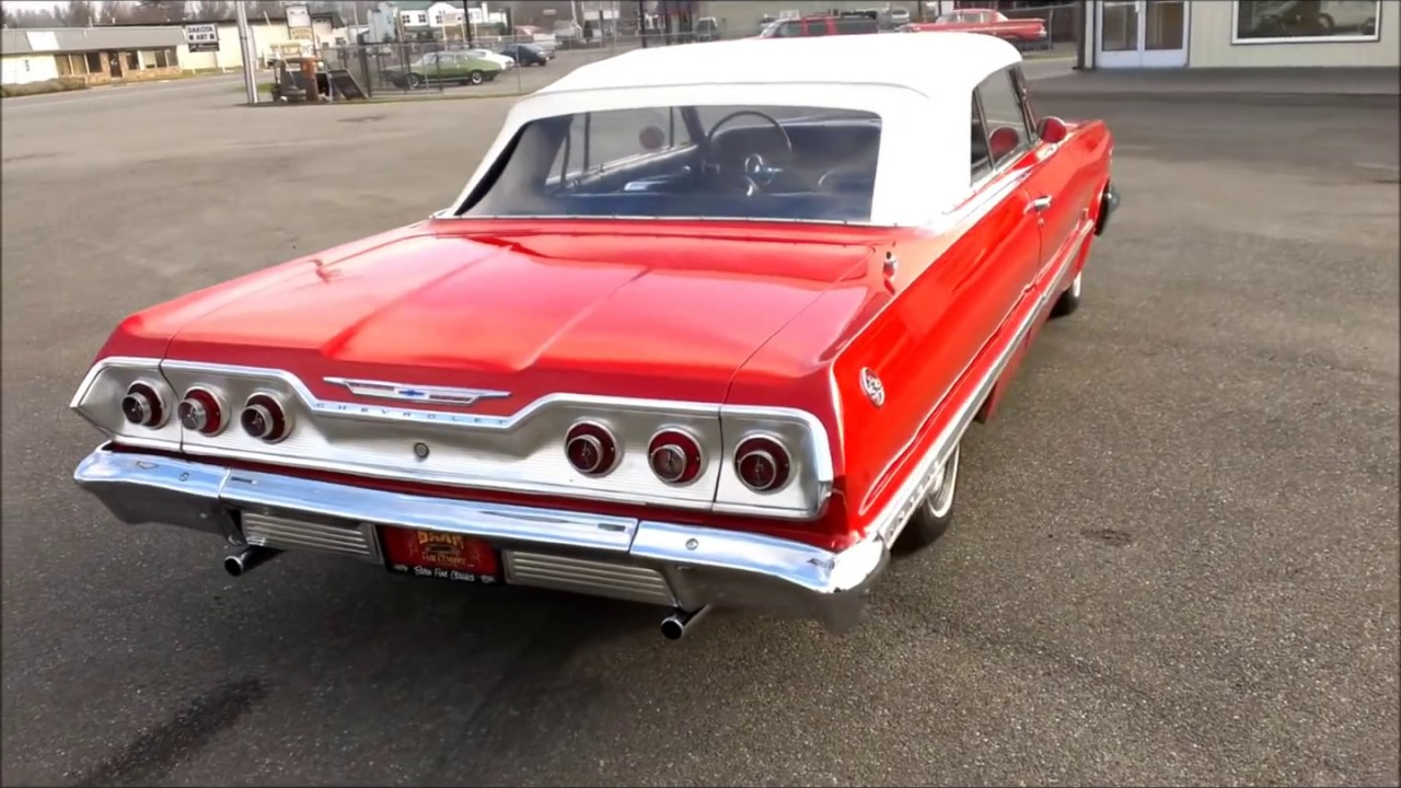 1963 Chevrolet Impala Convertible Youtube 1951 Super Sport
