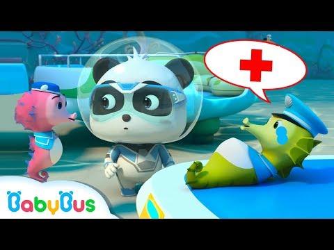 Rescate a Pap谩 Caballo de Mar   S煤per Panda H茅roes   Dibujos Animados Infantiles   BabyBus