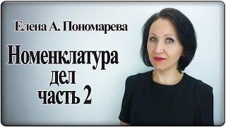 как заполнить табличную часть номенклатуры дел - Елена Пономарева