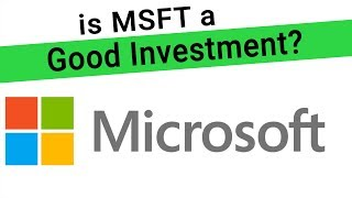 We analyze msft stock to see if it's a good investment. examine microsoft's business segments, revenue, and then use p/e ratio in addition applyin...