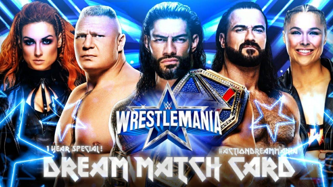 Download WWE WRESTLEMANIA 38 DREAM CARD | MY DREAM MATCH CARD | ACTION DREAM MANIA