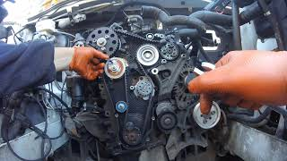 Как установить  ГРМ VW Crafter 2 0 tdi \ How to install a timing belt Volkswagen Crafter 2 0 tdi