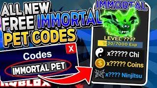 NEW *FREE IMMORTAL PET* CODES in NINJA LEGENDS UPDATE! (Roblox)