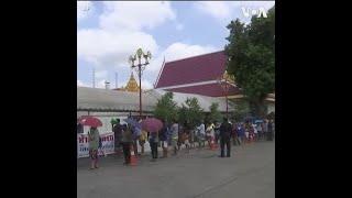 泰国曼谷为失业人员派发食物