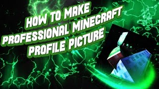 [TUTORIAL] HOW TO MAKE A PROFESSIONAL MINECRAFT PROFILE PICTURE! // Cinema 4D + Photoshop!