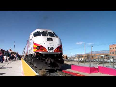 Railfanning from Santa Fe to Albuquerque New Mexico (Rail Runner & Amtrak Southwest Chief)