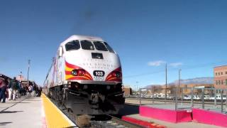 Rail Fanning from Santa Fe to Albuquerque New Mexico (Rail Runner & Amtrak Southwest Chief)
